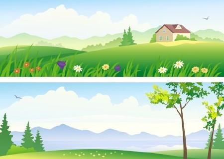 Cartoon Landscape #3 - 25 Vector