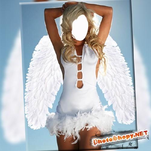 Женский фотошаблон - Просто ангел
