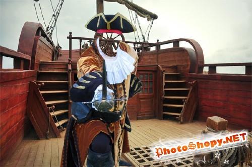 Мужской шаблон - На палубе корабля