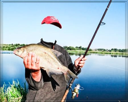 Шаблон для фотошопа - Рыба на уху
