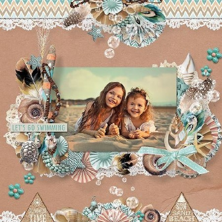 Морской солёный поцелуй - Скрап для обработки фото