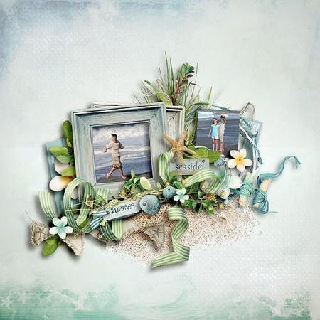 Райские тропики - отдых - набор для скрапа