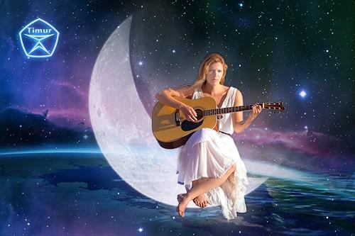 Женский шаблон для фотошопа - Лунная соната 3