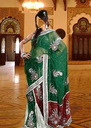 Женский фотошаблон - Девушка в сари