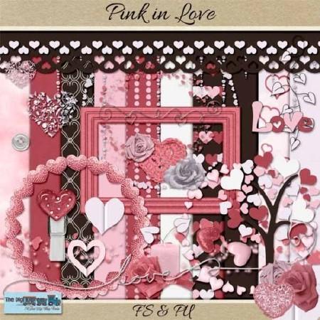 Любовь в оттенках розового  - Скрап - композиции
