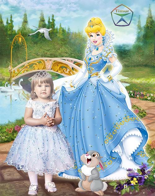 Детский шаблон - Маленькая принцесса сказочной страны