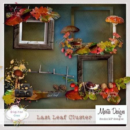 Дождливая осень и листопад - скрап элементы