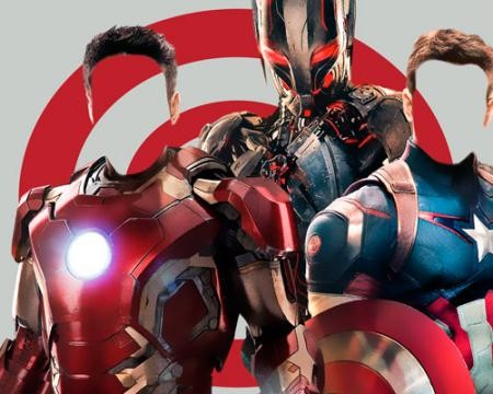 Фотошаблон для фото - Два супергероя