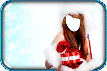 Psd шаблон - Клевая снегурочка