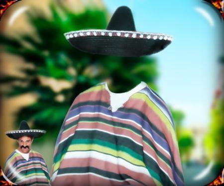 Фотошаблон для изменения фотографии - В Мексиканской рдежде