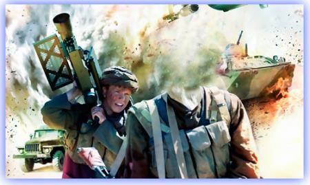 Фотошаблон для фото - Афганский воин