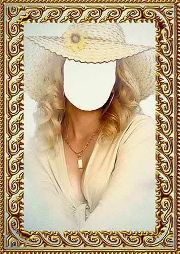 Фотошаблон - Портрет дамы в шляпе