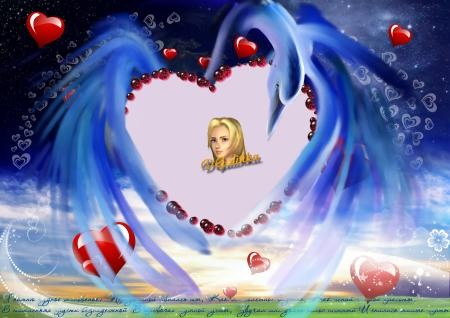 Фоторамка - Романтика сердец