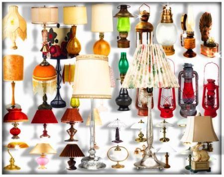 Png для фотошопа на прозрачном фоне - Лампы настенные и настольные