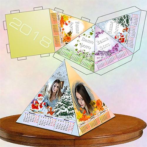 Настольный календарь пирамидка - Моя семья