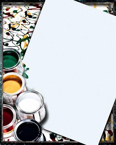 Рамка psd - Акварельные краски