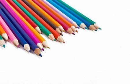 Png для дизайна - Цветные и простые карандаши