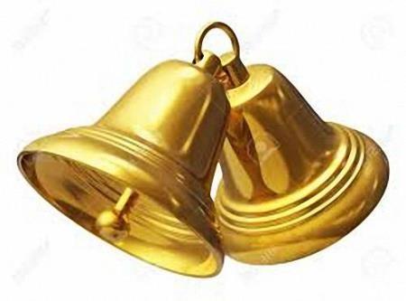 Png для дизайна - Звонкие, новогодние и простые колокольчики