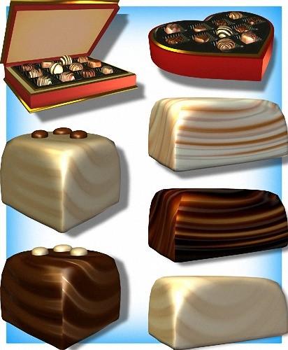 Золотая коллекция Png - Шоколадные конфеты