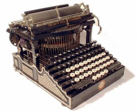 Клипарт прозрачный фон - Старинные печатные машинки