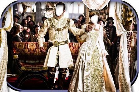 Парный шаблон - Князь и княгиня на балу