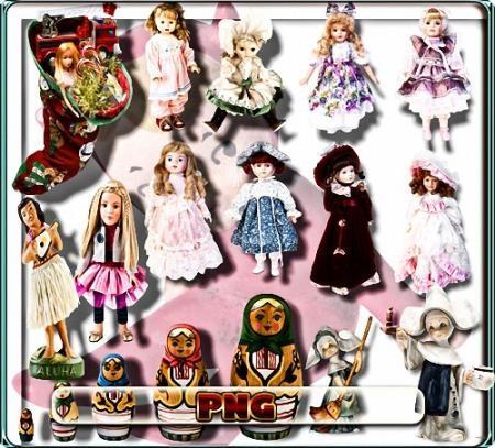 Растровый клипарт - Куклы и матрешки