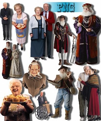 Png для фотошопа - Пожилые люди
