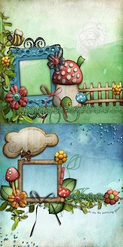Детская рамка - В грибах