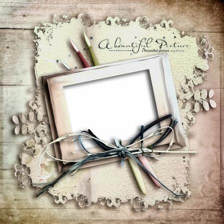 Красивая рамочка - Утонченная натура художника