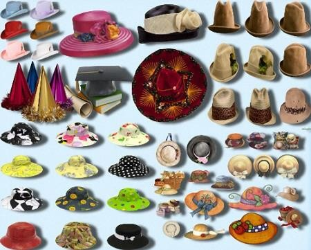 Png картинки - Шляпы и шляпки