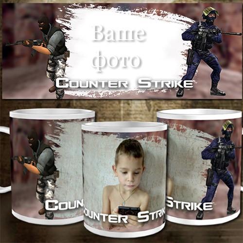 Шаблон для кружки - Геймеру Counter-Strike