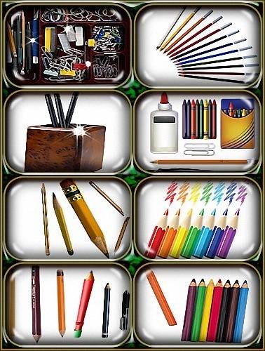 Фотошоп прозрачный - Цветные и простые карандаши