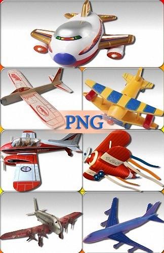 Растровый клипарт - Игрушечные самолеты