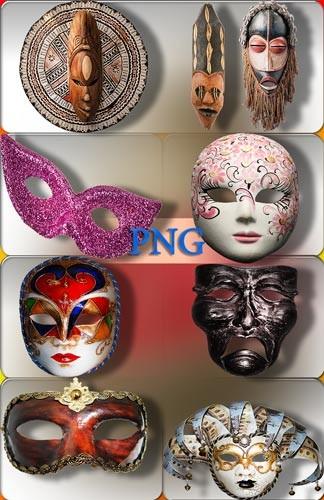 Клипарты для фотошопа - Маскарадные, настенные маски