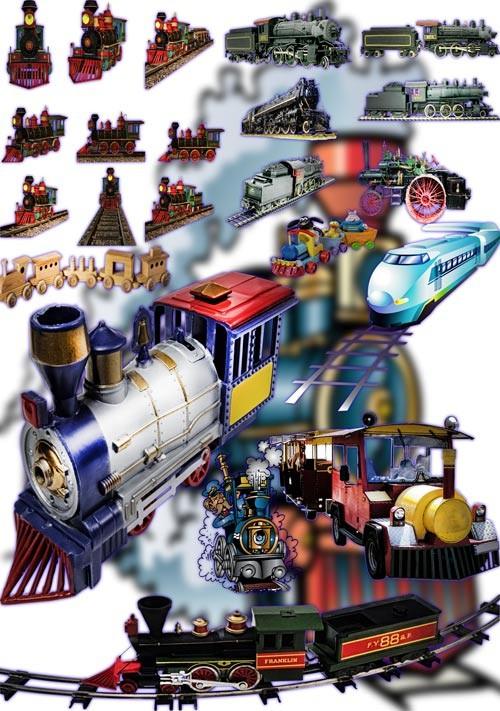 Новые клипарты Png - Поезда и паровозы
