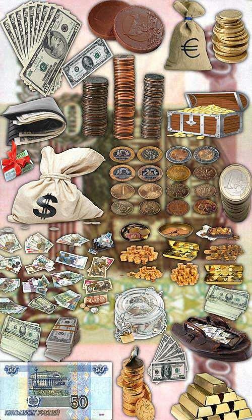 Фотошоп Png клипарты - Валюта стран мира