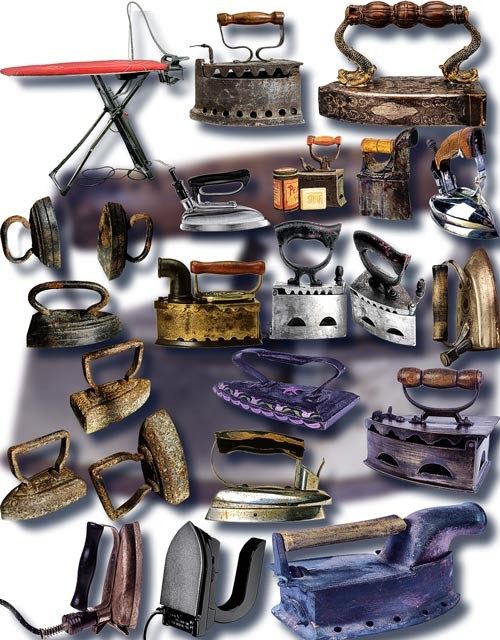 Фотошоп Png клип-арты - Старинные утюги