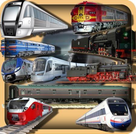 Клипарты на прозрачном фоне - Поезда