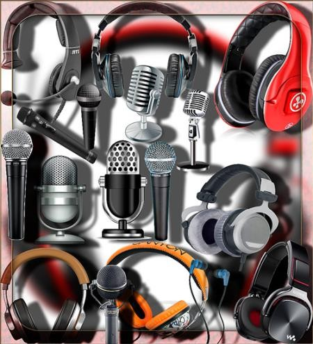 Png без фона - Микрофоны и наушники